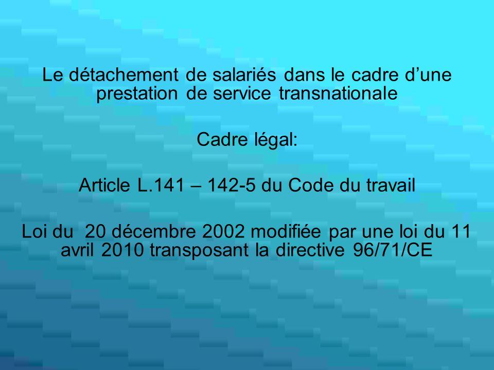 Article L.141 – 142-5 du Code du travail