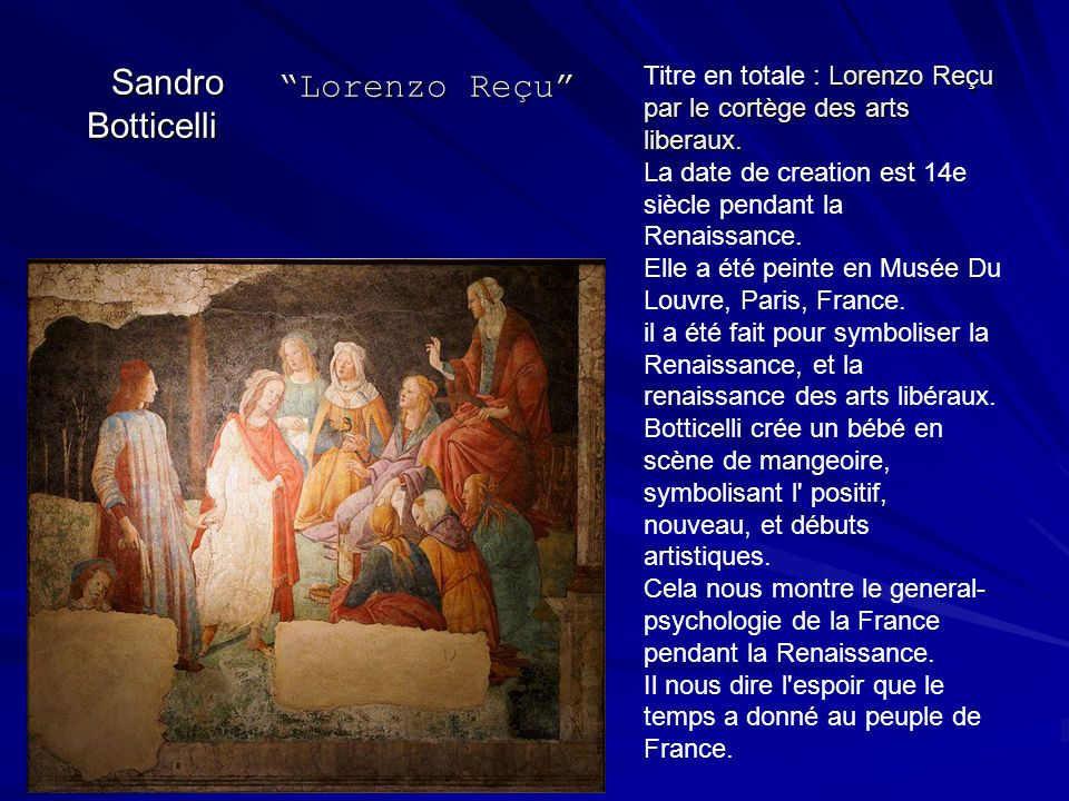 Sandro Botticelli Lorenzo Reçu