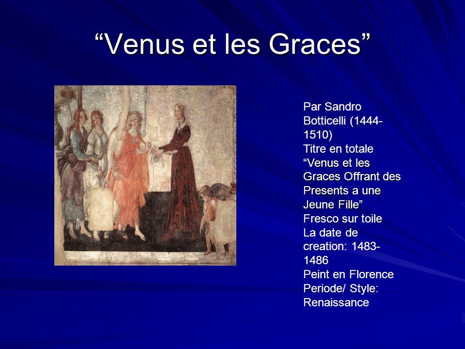 Venus et les Graces Par Sandro Botticelli (1444-1510)