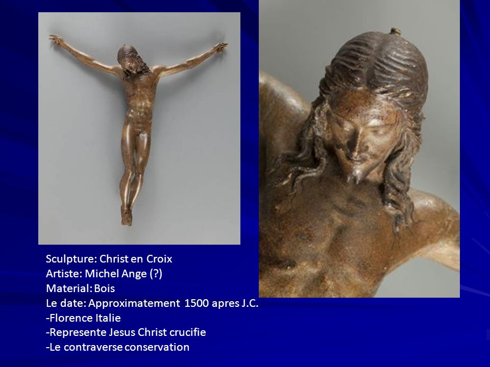 Sculpture: Christ en Croix