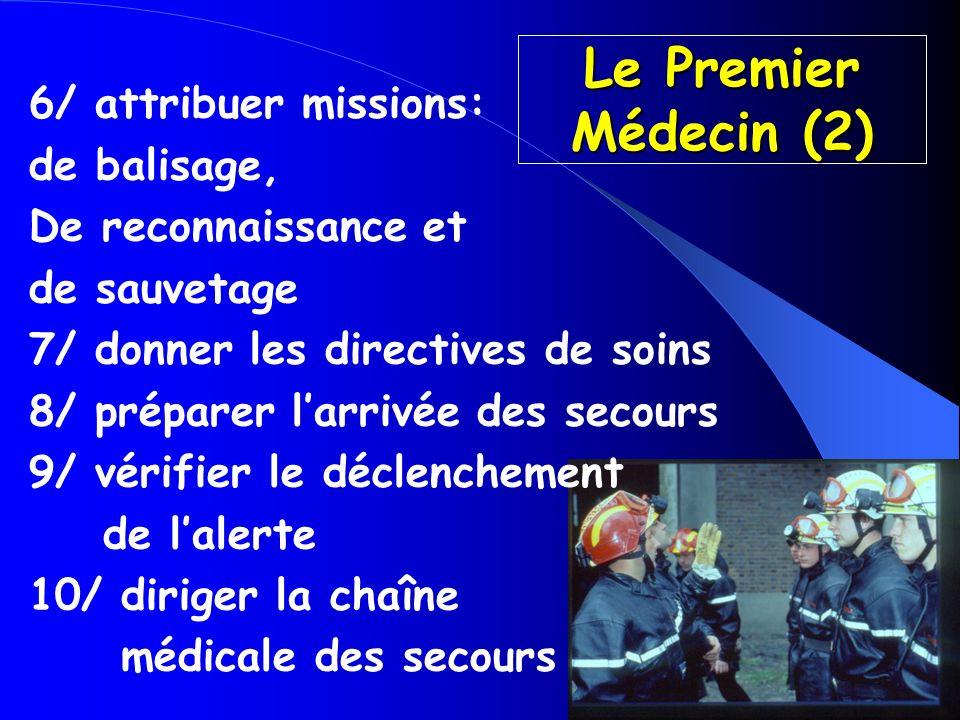 Le Premier Médecin (2) 6/ attribuer missions: de balisage,