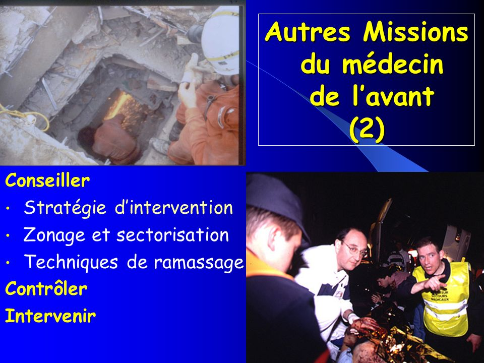 Autres Missions du médecin de l'avant (2)