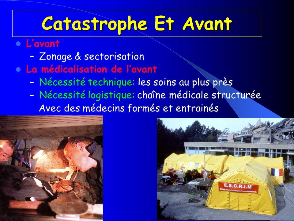 Catastrophe Et Avant L'avant Zonage & sectorisation
