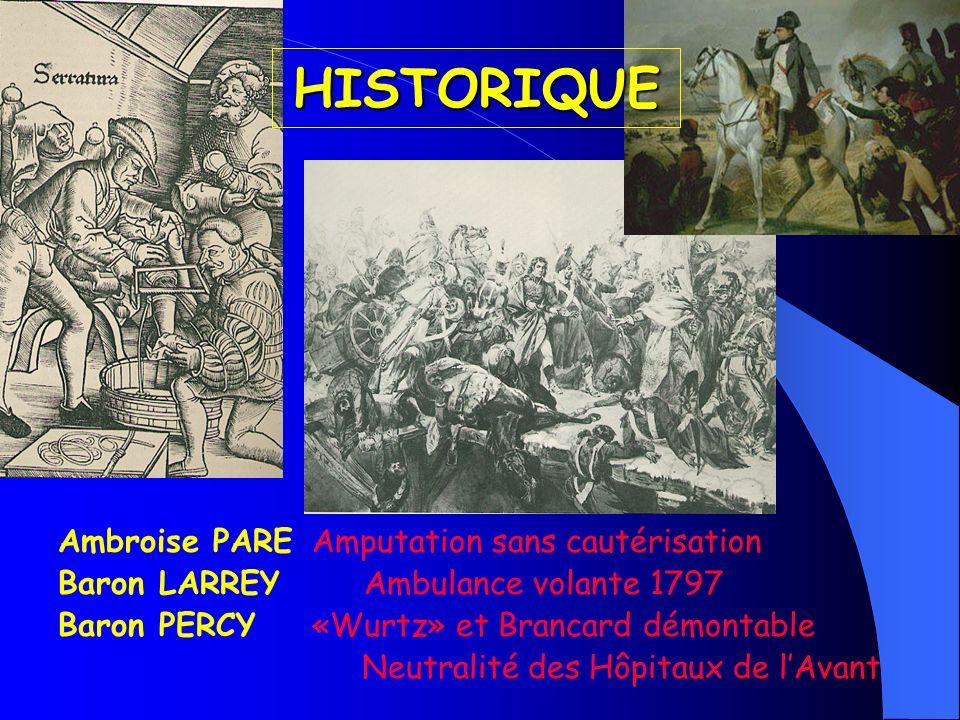 HISTORIQUE Ambroise PARE Amputation sans cautérisation