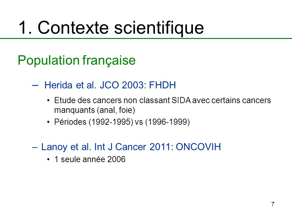 1. Contexte scientifique