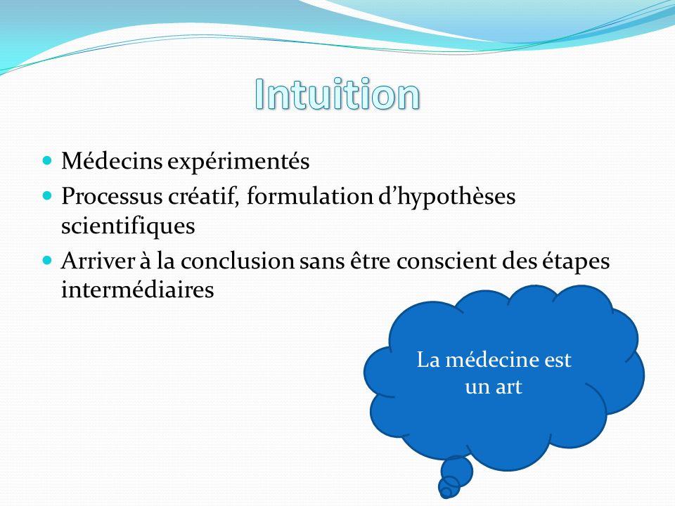 Intuition Médecins expérimentés