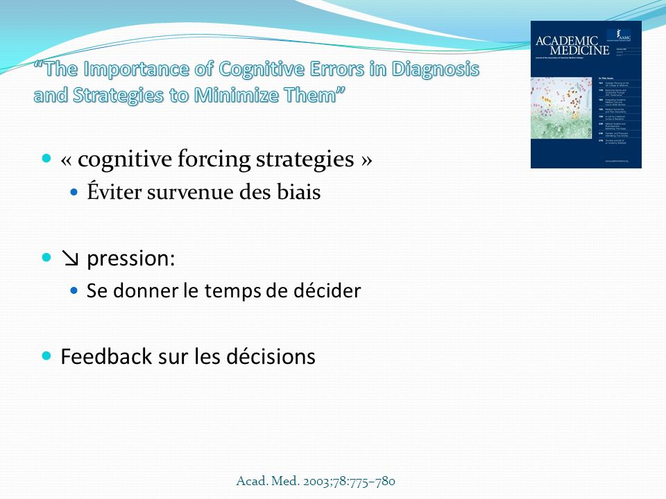« cognitive forcing strategies »