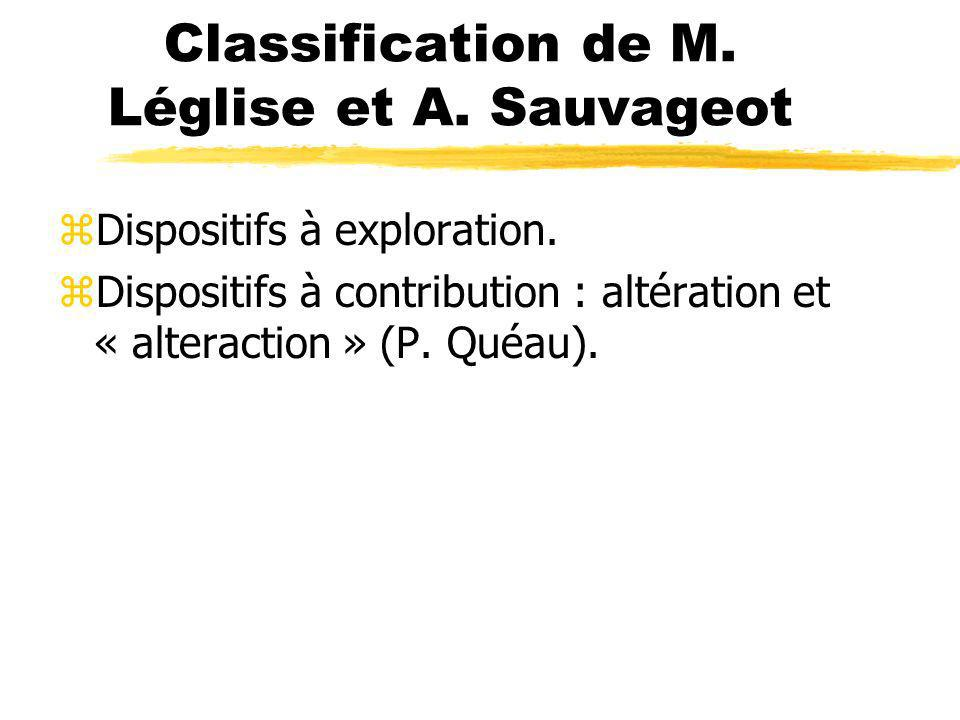 Classification de M. Léglise et A. Sauvageot