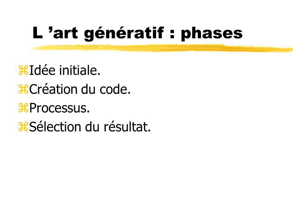 L 'art génératif : phases