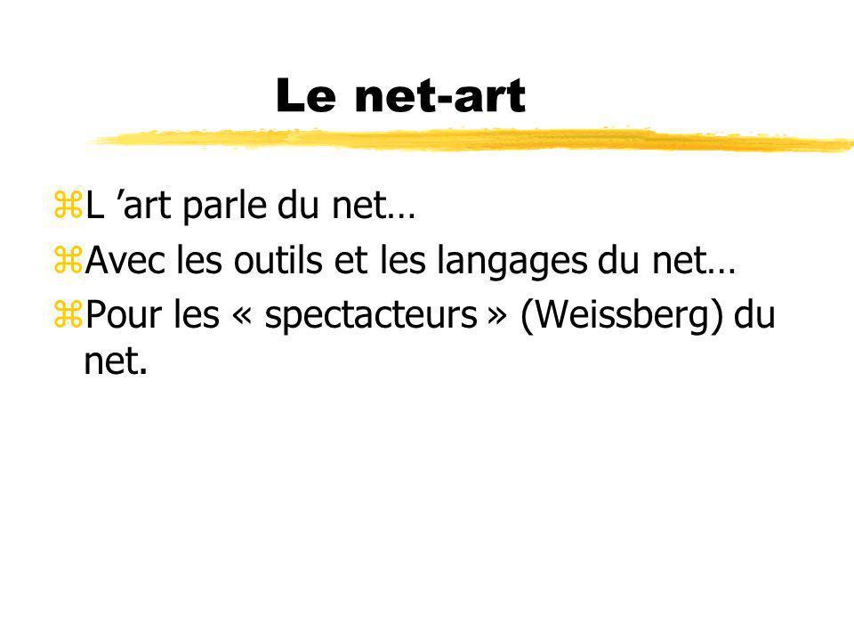 Le net-art L 'art parle du net…