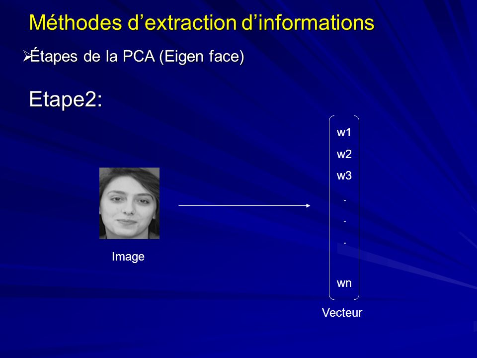 Méthodes d'extraction d'informations