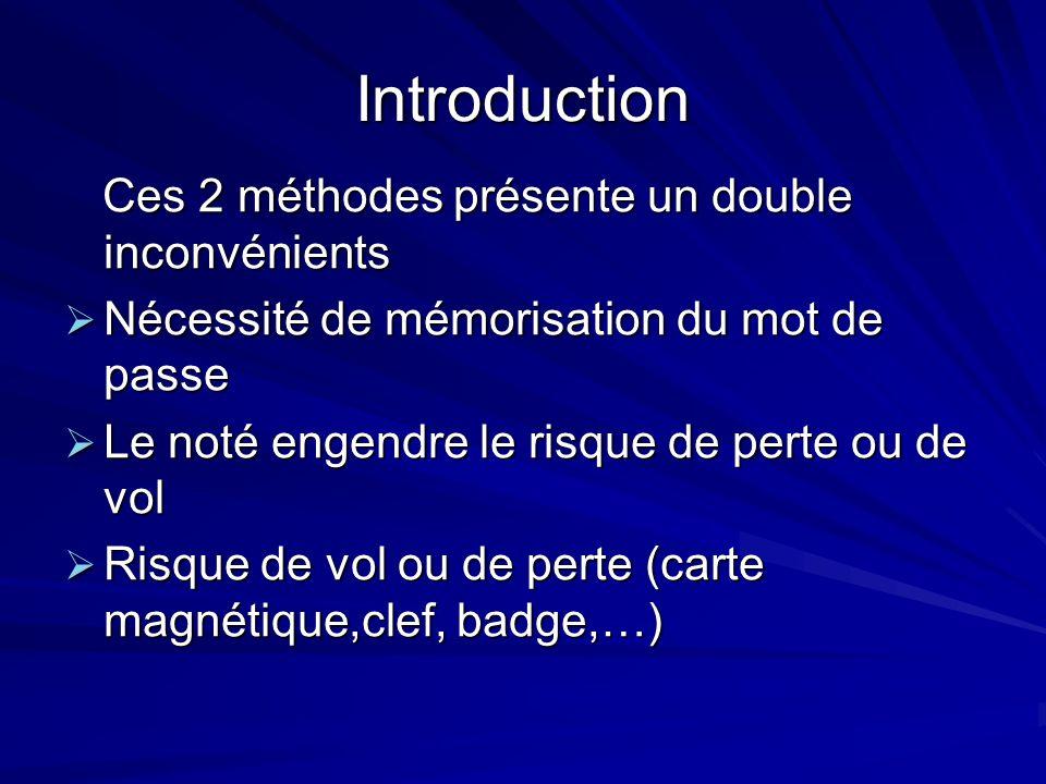 Introduction Ces 2 méthodes présente un double inconvénients