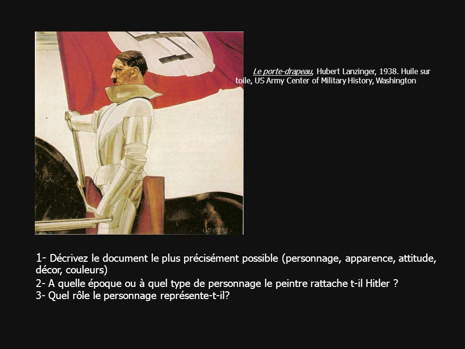 Le porte-drapeau, Hubert Lanzinger, 1938