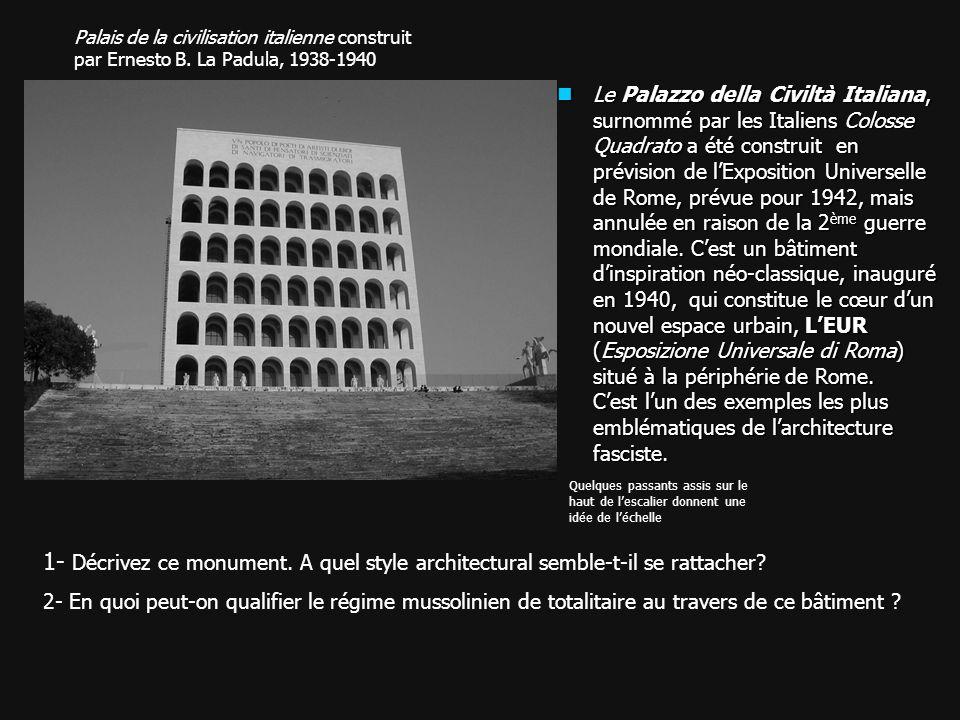 Palais de la civilisation italienne construit par Ernesto B