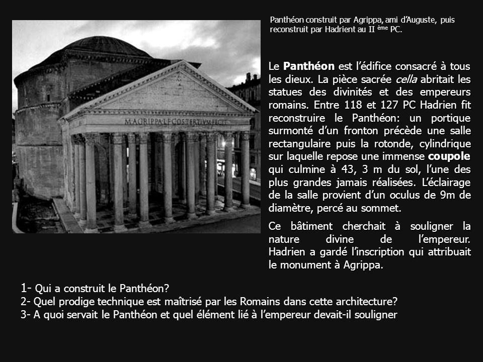 1- Qui a construit le Panthéon