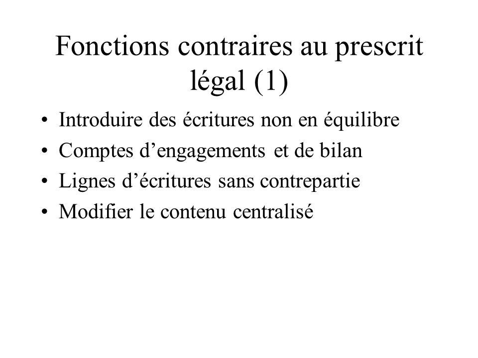 Fonctions contraires au prescrit légal (1)