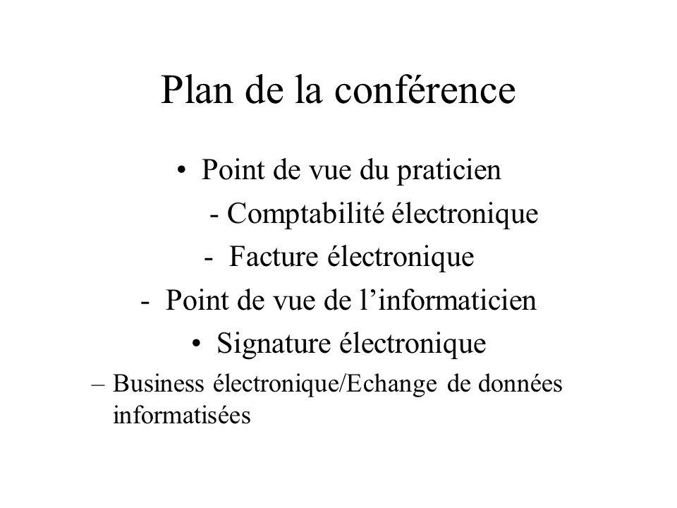 Plan de la conférence Point de vue du praticien