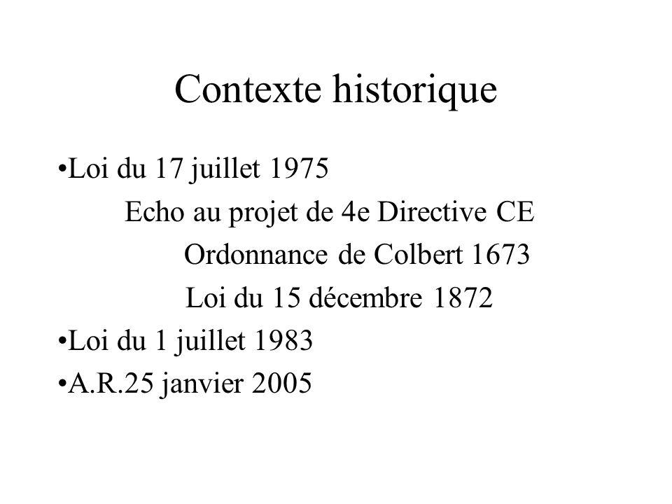 Contexte historique Loi du 17 juillet 1975