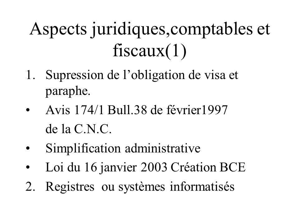 Aspects juridiques,comptables et fiscaux(1)