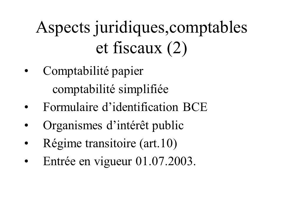 Aspects juridiques,comptables et fiscaux (2)