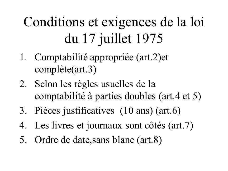 Conditions et exigences de la loi du 17 juillet 1975