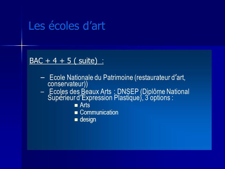 Les écoles d'art BAC + 4 + 5 ( suite) : Ecole Nationale du Patrimoine (restaurateur d'art, conservateur))