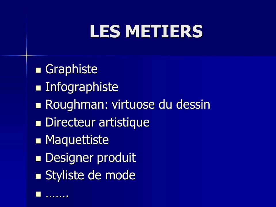 LES METIERS Graphiste Infographiste Roughman: virtuose du dessin