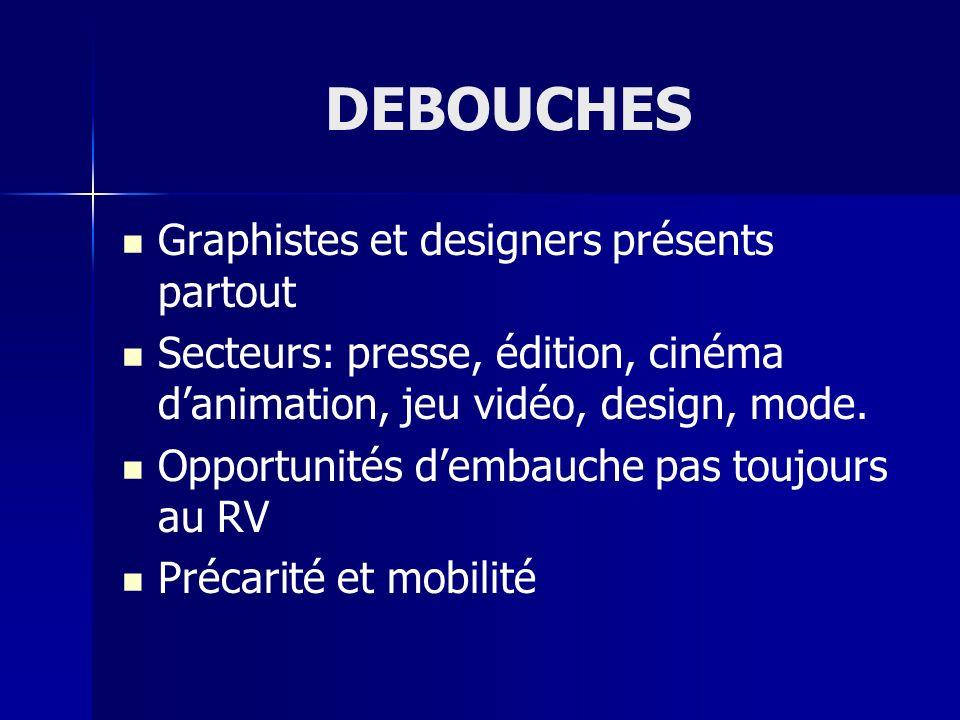 DEBOUCHES Graphistes et designers présents partout