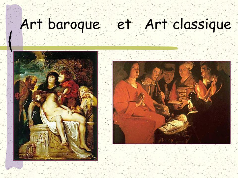 Art baroque et Art classique