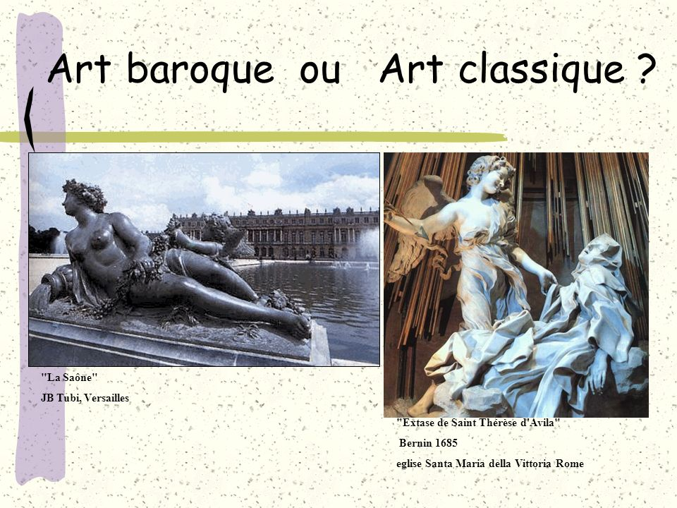 Art baroque ou Art classique