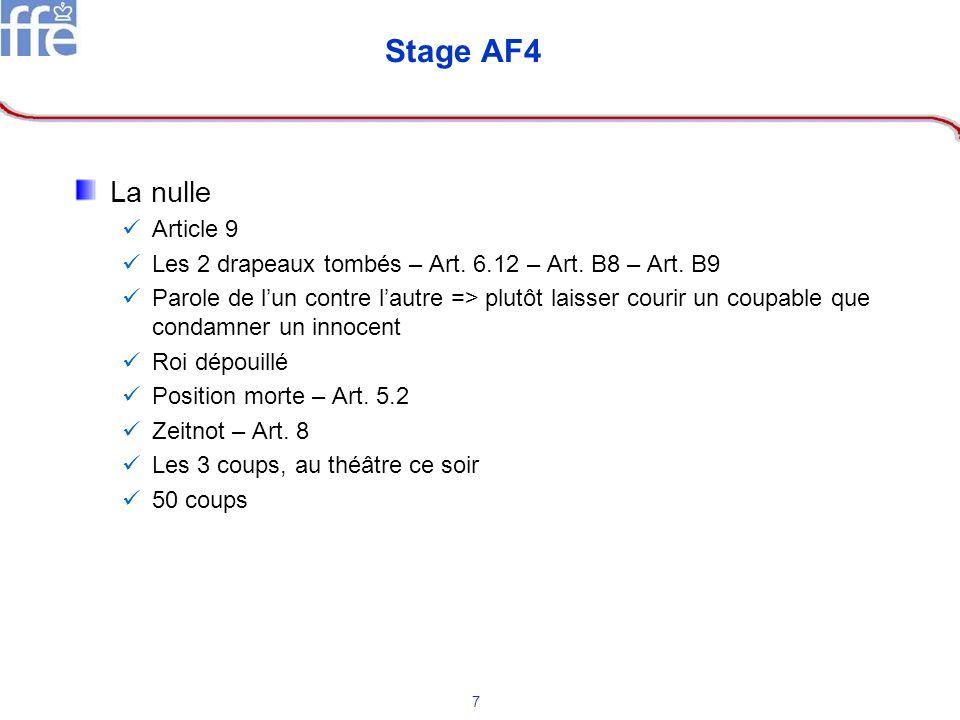 Stage AF4 La nulle Article 9