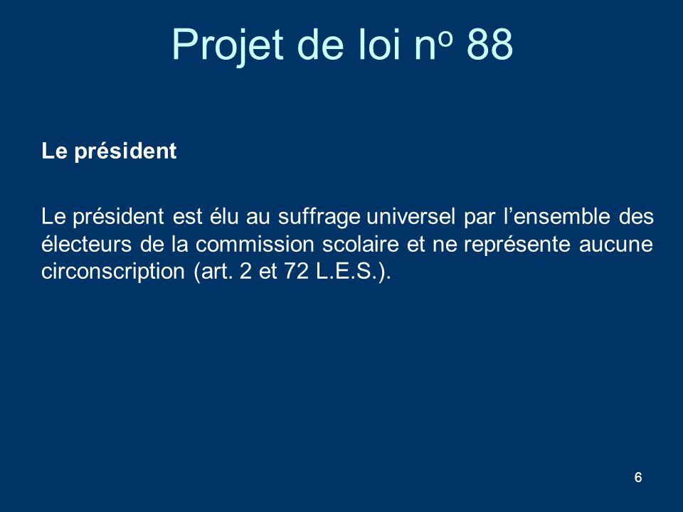 Projet de loi no 88 Le président