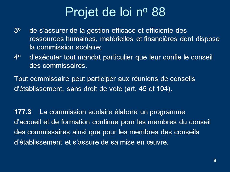 Projet de loi no 88
