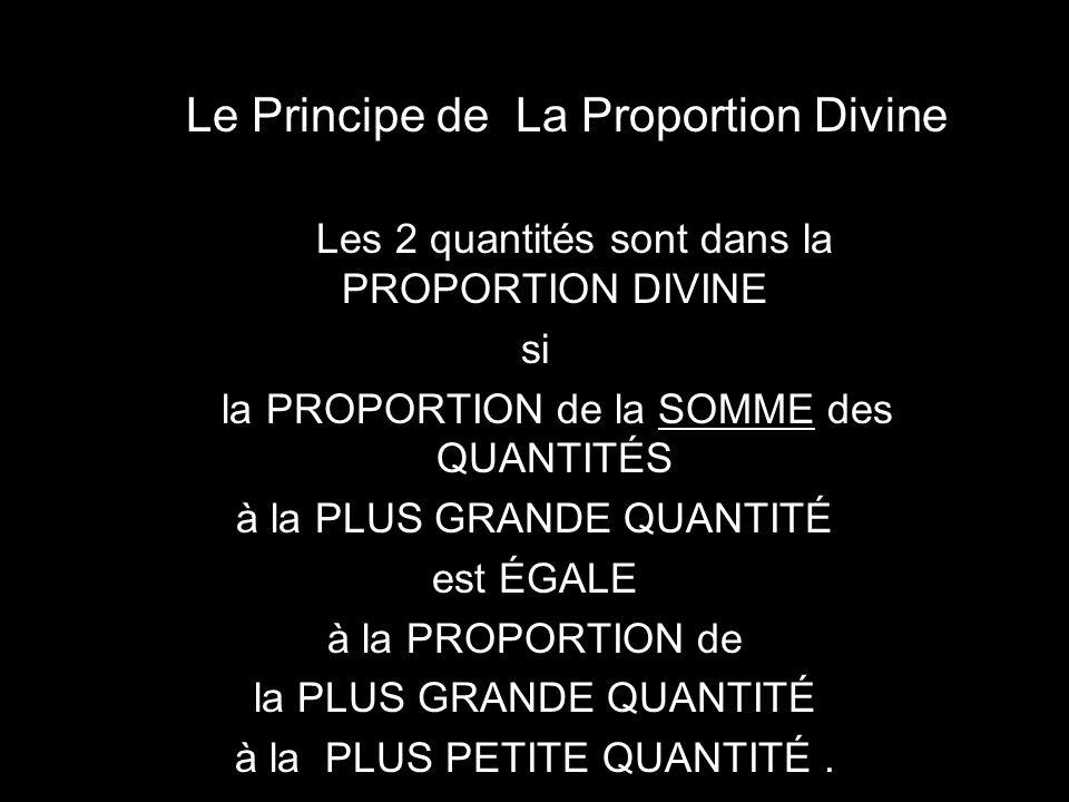 Le Principe de La Proportion Divine
