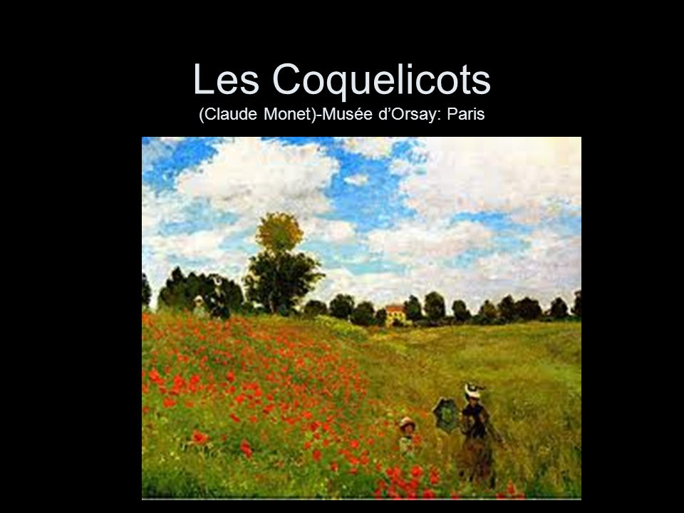 Les Coquelicots (Claude Monet)-Musée d'Orsay: Paris