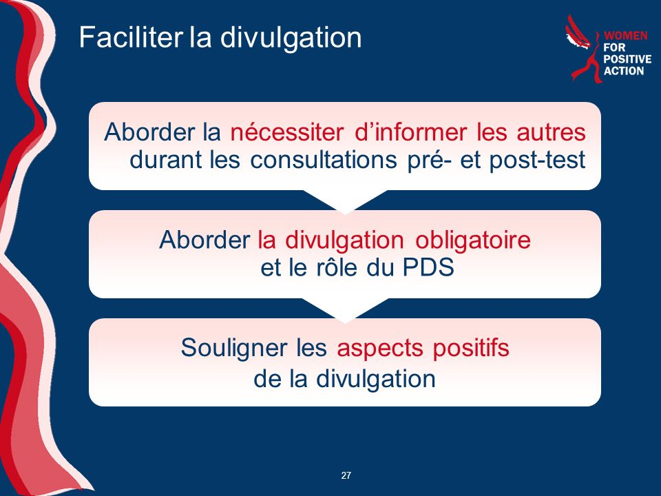 Faciliter la divulgation