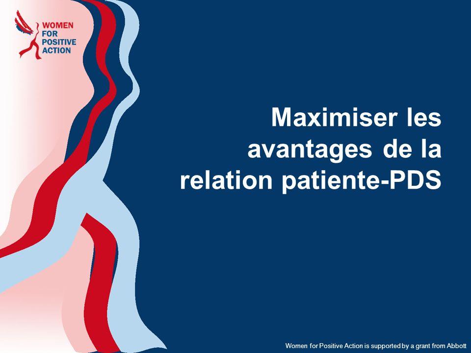 Maximiser les avantages de la relation patiente-PDS