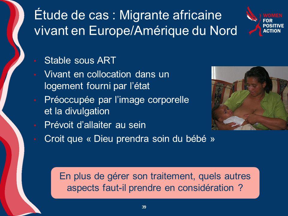 Étude de cas : Migrante africaine vivant en Europe/Amérique du Nord