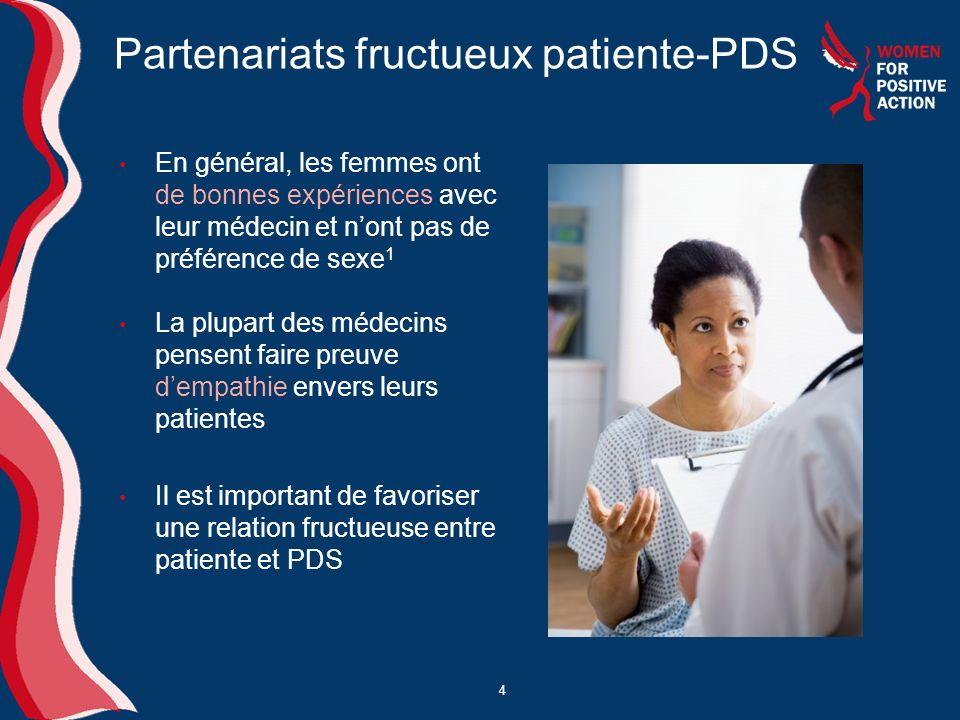 Partenariats fructueux patiente-PDS
