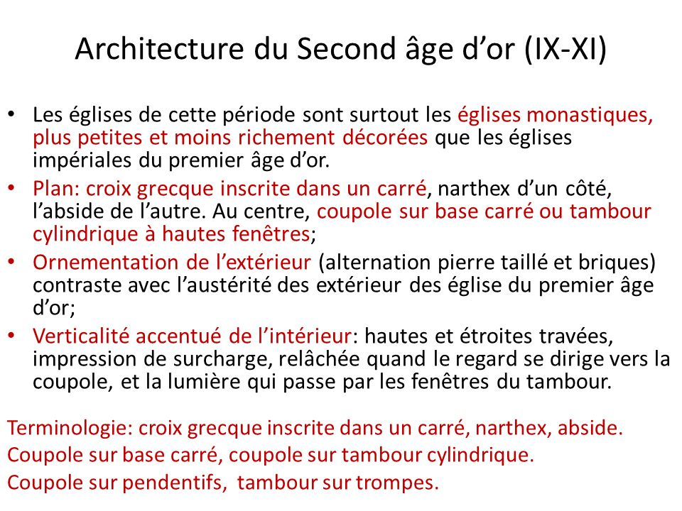 Architecture du Second âge d'or (IX-XI)