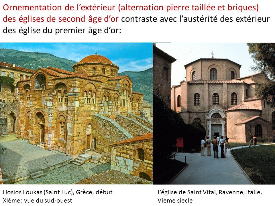 Hosios Loukas (Saint Luc), Grèce, début XIème: vue du sud-ouest