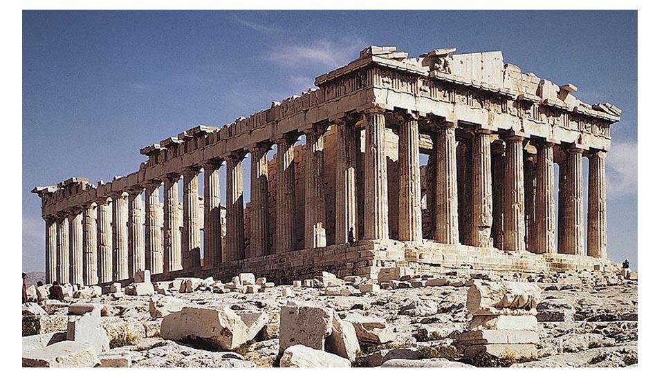 Le Parthénon respecterait les proportions d'or, notamment le rectangle de la façade du bâtiment (en incluant le pédiment).