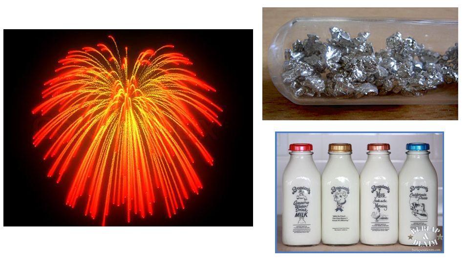 Orange – cristaux de calcium – bouteilles de lait