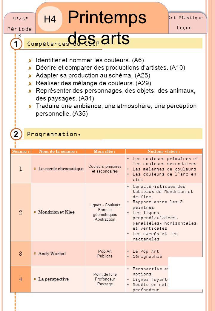 Printemps des arts H4 1 2 Compétences du CECP