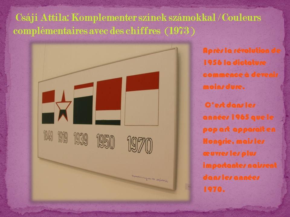 Csáji Attila: Komplementer színek számokkal / Couleurs complémentaires avec des chiffres (1973 )