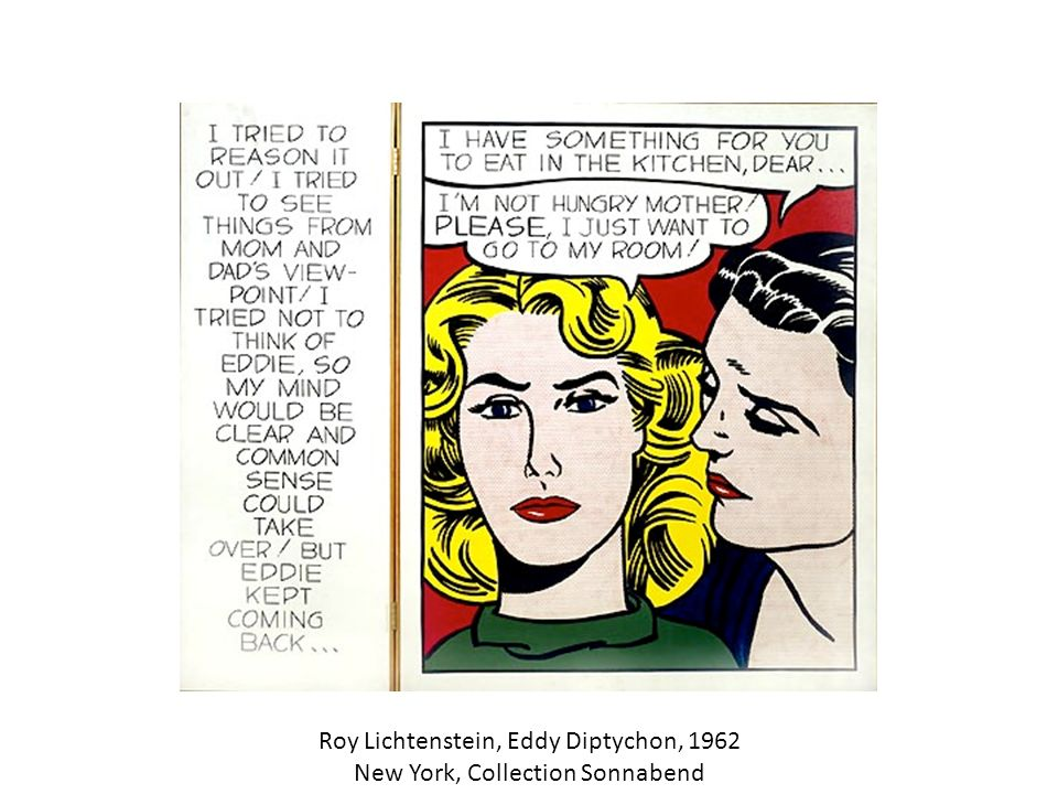 Roy Lichtenstein, Eddy Diptychon, 1962 New York, Collection Sonnabend