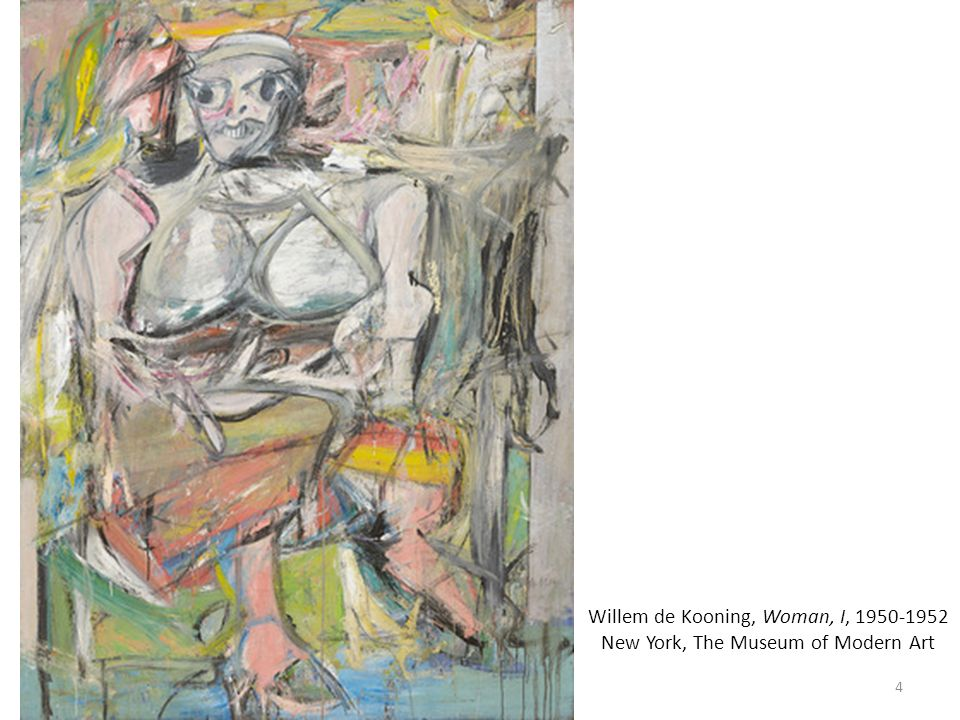Willem de Kooning, Woman, I, 1950-1952