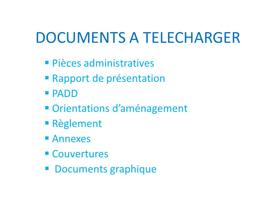 DOCUMENTS A TELECHARGER