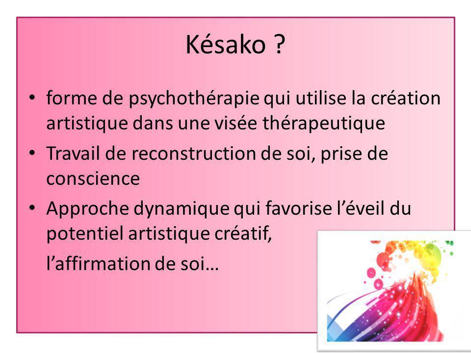 Késako forme de psychothérapie qui utilise la création artistique dans une visée thérapeutique.