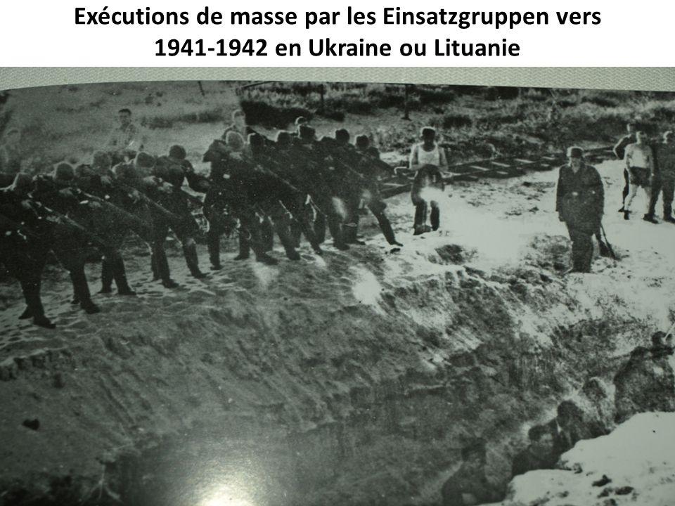 Exécutions de masse par les Einsatzgruppen vers 1941-1942 en Ukraine ou Lituanie doc photo 8085 p 56